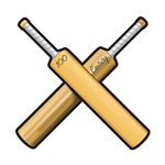 Whether you're planning a Cricket themed party or an International party, this Cricket Bats Cutout will add an interesting touch. Printed both side on high quality cardstock. Hang from the ceiling, on a wall, or add as a place mat setting for a fun feel.