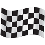 Everyone's a winner with these Jumbo Checkered Flag Cutouts!  You next racing themed party will be the first across the Amazing Party finish line when you include the striking jumbo signs in your decor.  Sold two cutouts per package,.