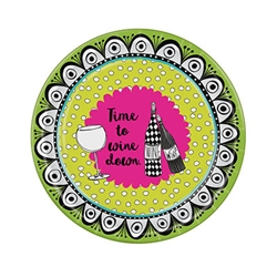 "Dolly Mama says - ""Time to 'Wine' Down"".  Who's going to argue?  A Dolly Mama's theme for your next party is sure to have your guests relaxed and enjoying themselves! Sold 8 - 9 inch plates per package."