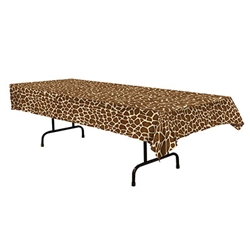 No bungle in the jungle for you!  This Giraffe Print tablecover is sure to set the perfect theme for your jungle themed party!  Sold 1 per package, 54 inch wide, 108 inch long.  Water resistant, reusable with care.