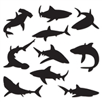 Hosting an Under The Sea themed party or event?  Include these striking Shark Silhouettes to add interest and depth to your venue.  Each package includes 10 silhouettes printed on high quality cardstock. These sharks range in size from 10 to 15 inches.
