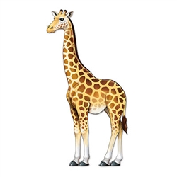 Your jungle themed party is sure to reach new heights with this over 4 foot tall Jointed Giraffe!  Printed one side on high quality cardstock in vibrant color, fully jointed and poseable.  Reusable with care.