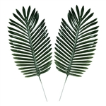 Add these realistic Fabric Fern Palm Leaves to your Luau or Jungle themed party decor for that extra touch.  They'll look great incorporated into a centerpiece, scattered on a table, or arranged around your drink or dessert table.