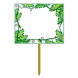 Blank Jungle Yard Sign