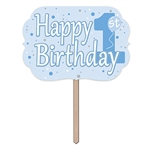 1st Birthday Yard Sign - Blue