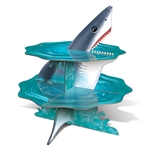 "Looking for just the right touch for your Under The Sea themed dessert table?  Celebrating ""Shark Week"" and can't find just the right table accessory?  This Shark Cupcake Stand is just what you need!"