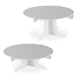 No matter what you're celebrating, this Cake Stand in white will add an elegant and eye catching display to your table and make your desserts look irresistible! Sold 2 per package, you'll double the effect! Made of highest quality cardstock.
