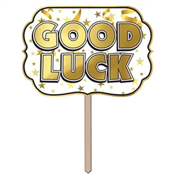 Foil Good Luck Yard Sign