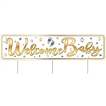 All Weather  Jumbo Welcome Baby Yard Sign