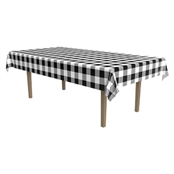 Black Plaid Tablecover