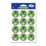 Brasil Soccer Stickers (2 Sheets Per Package)