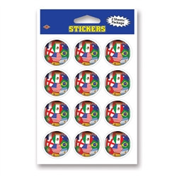 International Soccer Stickers (2 Sheets Per Package)