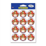Portugal Soccer Stickers (2 Sheets Per Package)