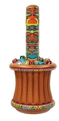 Inflatable Tiki Totem Pole Cooler (1/Pkg)
