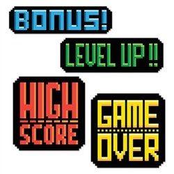 8-Bit Action Sign Cutouts