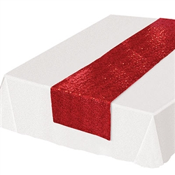 Looking for a classy, subtle and colorful way to add a splash of color to your table settings?  This Sequined Table Runner - Red will add the touch of fun and excitement you're party deserves.  Each runner is 11.25 inches wide by 6.25 feet long.