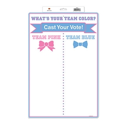 Gender Reveal Team Voting Tally Board