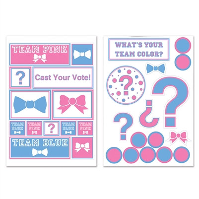 Gender Reveal Team Spirit Decals