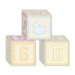 Baby Blocks Favor Boxes (3/pkg)