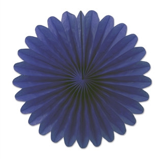 Blue Mini Tissue Fans (6 Per Package)