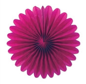 Cerise Mini Tissue Fans (6 Per Package)