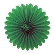 Green Mini Tissue Fans (6 Per Package)