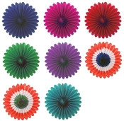 Mini Tissue Fans (Choose Color) Pack of 6