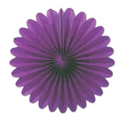 Purple Mini Tissue Fans (6 Per Package)