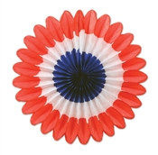 Patriotic Mini Tissue Fans (6 Per Package)