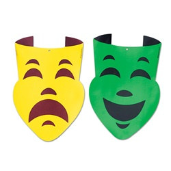 Foil Comedy and Tragedy Faces