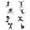 Summer Sports Cutouts