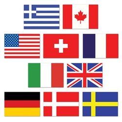 Mini International Flag Cutouts (10/pkg)