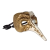 Ivory and Gold Long Nose Mask