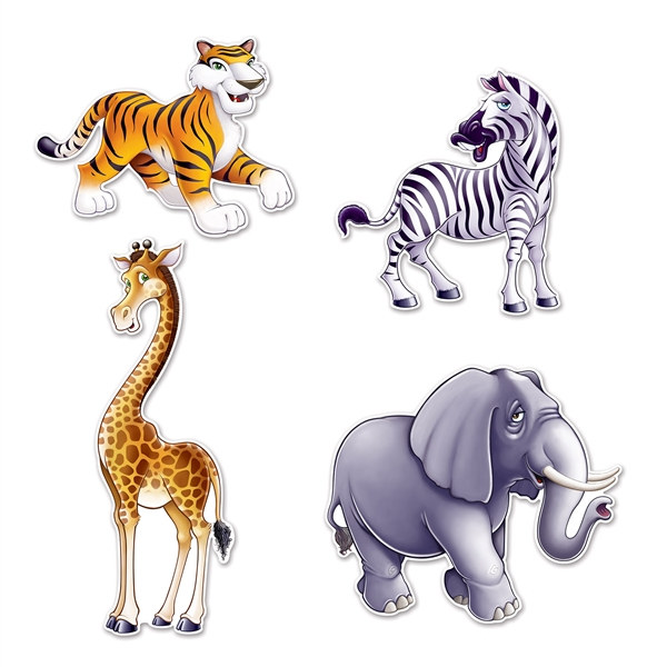 jungle animal cutouts partycheap