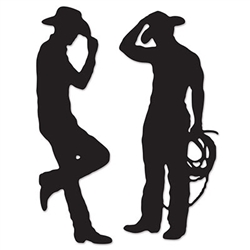 Cowboy Silhouette Cutouts (2 Per Package)