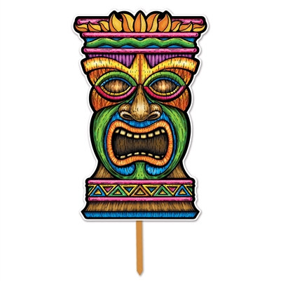 3-D Plastic Tiki Yard Sign (1/pkg)