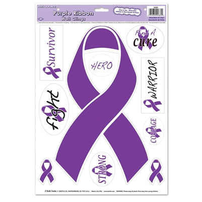 Purple Ribbon Peel 'N Place (1/pkg)