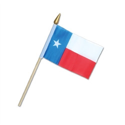 Rayon Texas Flag (4 in x 6 in)