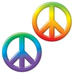 Plastic Peace Sign