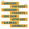 Circus Sign Cutouts (4/pkg)