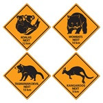 Outback Road Sign Cutouts (4/pkg)