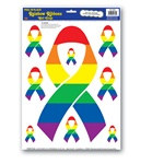 Rainbow Ribbon Peel N Place (9/sheet)