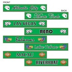 Gambling Destination Street Sign Cutouts (4/pkg)