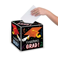 Congrats Grad Card Box, 9 inch