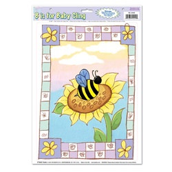 B Is For Baby Cling (1/sheet)