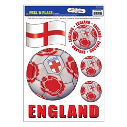 England Soccer Peel 'N Place (6/Sheet)