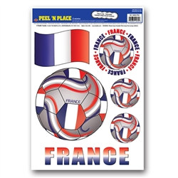 France Soccer Peel 'N Place (6/Sheet)