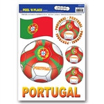 Portugal Soccer Peel 'N Place (6/Sheet)