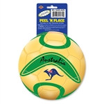 Australia Soccer Ball Peel 'N Place (1/Sheet)