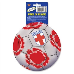 England Soccer Ball Peel 'N Place (1/Sheet)